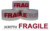 Nastro adesivo stampa FRAGILE, 48 mmx60 mt