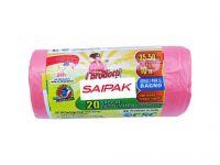 Rotolo da 20 sacchetti rosa per immondizia 35x50cm