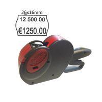 Prezzatrice a 2 linee per etichette da 26x16 + 10 rotoli  etichette + 1 ink roll